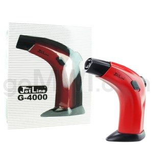 "Jetline G-4000 6.25"" Jumbo Dual Flame Table Torch Red"