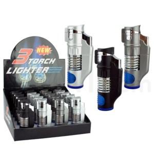 """Pocket Torch 3.25"""" Triple Flame w/Spring 20PC/BX"""