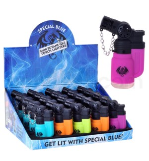 """Special Blue Pocket Torch 3"""" Mini Rubber Lighter 20CT/BX"""