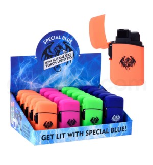 """Special Blue Pocket Torch 2.5"""" Classic Rubber Lighter 20CT/BX"""
