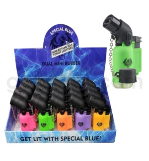"Special Blue Pocket Torch 3"" Mini Dbl Rubber 20CT/BX"