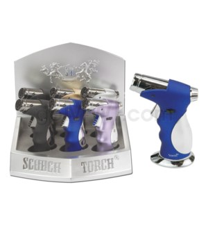"Scorch Pocket Torch 4.5"" 45 Degree Metal w/Grip Asst 6PC/BX"