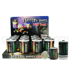 Pill Box Battery D 12PC/BX