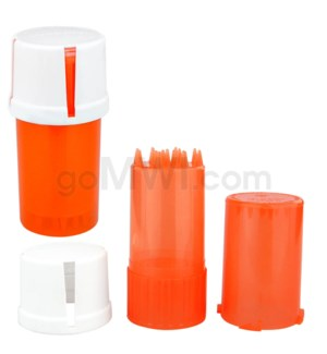 Medtainer 20 Dram Child Resistant Clear Orange