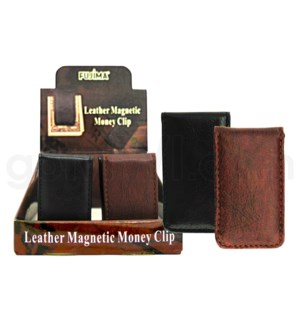 DISC Fujima Money Clip Leather MagnetAssorted