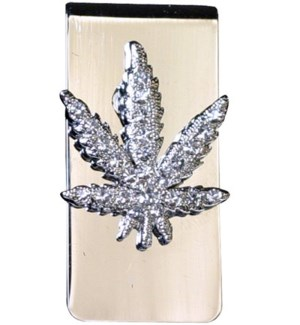 DISC Bling Money Clips LEAF
