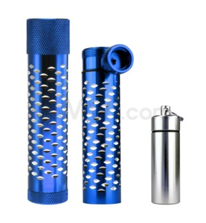 DISC Metal Hand Pipe Steamroller w/ container diamond