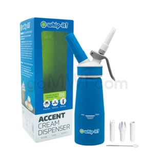 Whip-It Rubber Coated Pro Dispenser .25L-1/2PT Blue 6PC/CS