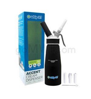Whip-It Rubber Coated Pro Dispenser .5L- Black 6PC/CS