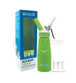 Whip-It Rubber Coated Pro Dispenser .5L- Green 6PC/CS