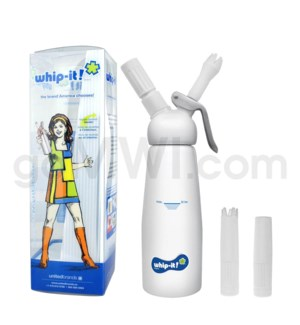 Whip-It Rubber Coated Pro Dispenser .5L- White 6PC/CS