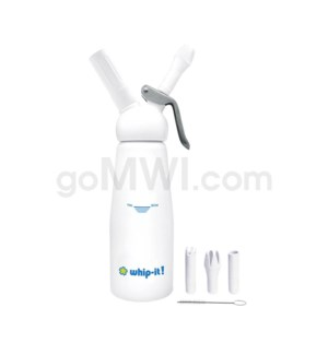 Whip-It Professional .5L-1PT White 6PC/CS