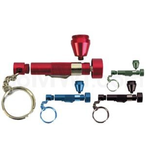 "3.5"" Metal Pipe  Flash light asst. colors"