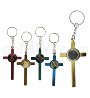 Metal Pipe  Keychain Cross