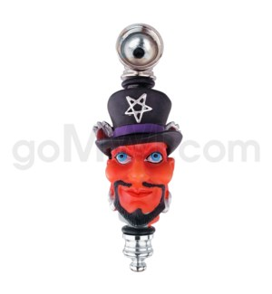 "3.5"" Metal Polyresin Pipe - Devil"