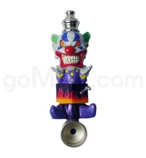 DISC Metal Polyresin Pipe  - Clown