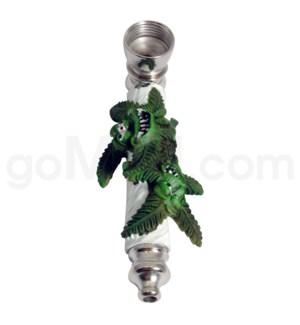 """3.5"""" Metal Polyresin Pipe  - Leaf Friends"""
