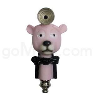 """3.5"""" Metal Polyresin Pipe - Pink Panther"""