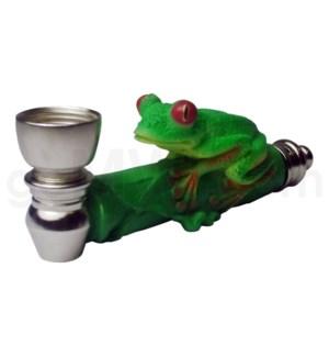 """3.5"""" Metal Polyresin Pipe  - Frog"""