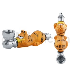 "3.5"" Metal Polyresin Pipe  - Garfield"