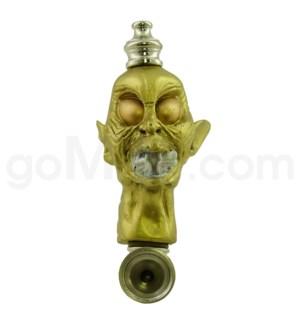 """3.5"""" Metal Polyresin Pipe   - Gold Monster"""