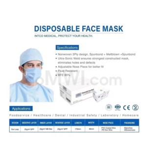 Basic 3 Ply Mask 10CT/BAG x 5 BAGS/BX = 50CT/BX