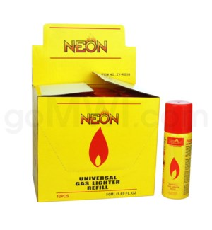 DISC Neon Butane Gas 50ml 12/bx 96/cs