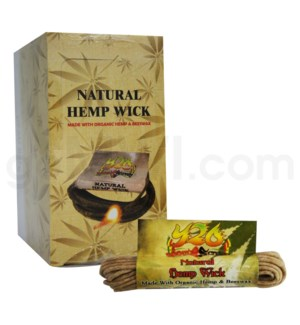 Natural Hemp Wick 24 bx each box (8ft - 60ct)