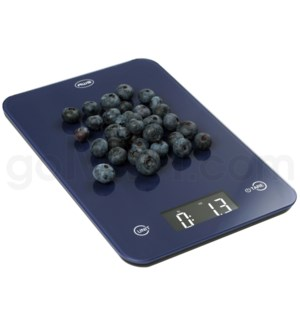 AWS 11 lbs 0.1oz Kitchen Glass Scales - Blue