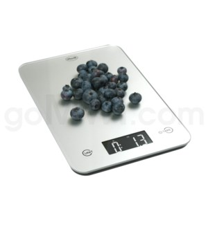 AWS 11 lbs x 0.1oz Kitchen Glass Scales - Silver
