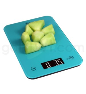 AWS 11 lbs x 0.1oz Kitchen Glass Scales - Turquoise