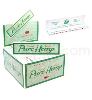Pure Hemp King Size 50CT/BX GREEN BOX