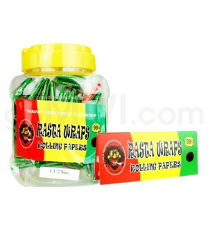 DISC Rasta Wraps Papers in Bottle 32/pk 50ct/bx 120/cs