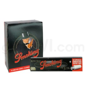 Smoking Deluxe King Size Papers+Filter Tips 33/pk 24ct/bx
