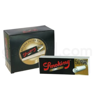 Smoking Deluxe Filter Tips 50ct/bx