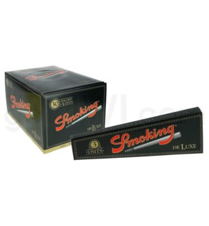 Smoking Deluxe Pre Rolled Paper 3Units/30CT/BX