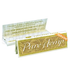 "Pure Hemp Unbleached Paper 1 1/4"" 25CT/BX BROWN BOX"