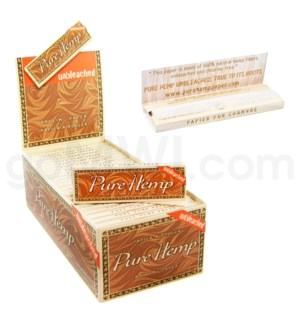Pure Hemp Unbleached Paper Regular 50CT/BX BROWN BOX