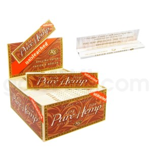 Pure Hemp Unbleached Paper King Size 50CT/BX BROWN BOX