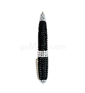 DISC  Cystal bling pens- Black (KITN05)