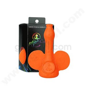 DISC Monkey O's Plastic Smoke Ring Bubbler - Orange