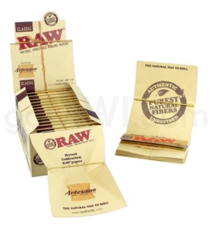 "Raw Classic 1 1/4"" Artesano Rolling Papers 50/pk 15ct/bx"