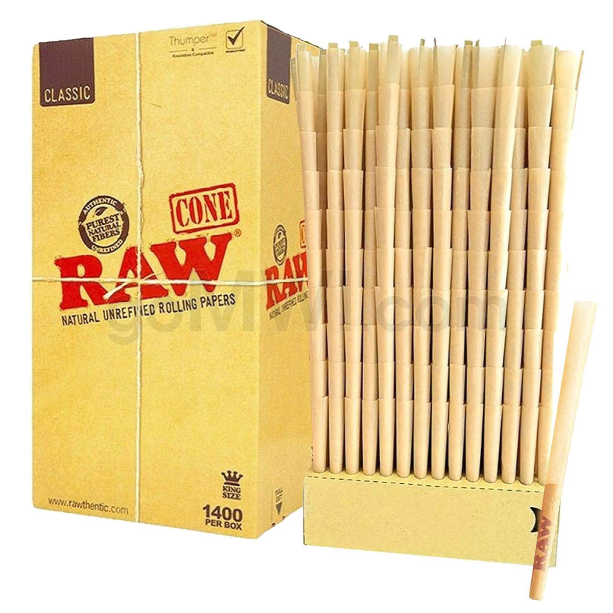 RAW 1400CT KING SIZE PRE ROLLED CONES