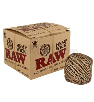 Raw Hemp Wick - 100ft / 30.5meter 1ct/bx