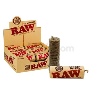 Raw Hemp Wick - 20ft / 6meter 20ct/bx
