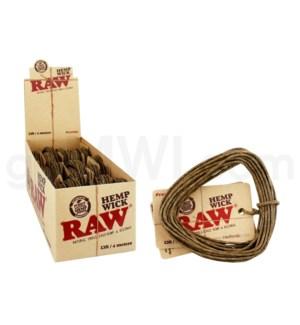 Raw Hempwick Large 400cm 18/bx