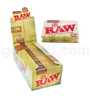 "Raw Organic Hemp 1 1/2"" Rolling Papers 32/pk 24ct/bx"