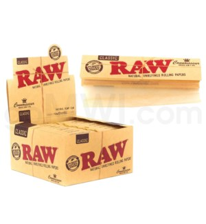 Raw Organic Hemp King Size Slim Connoisseur 32/pk 24ct/bx