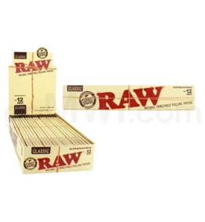 "Raw Classic 12"" Supernatural Rolls 20/pk 20ct/bx"
