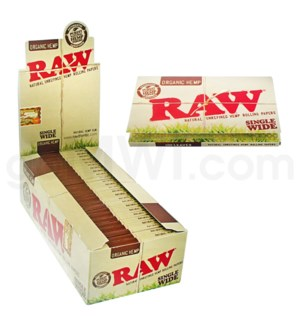 Raw Organic Hemp Single Wide 25/bx